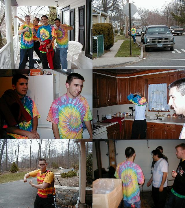 Real men wear tie dye!